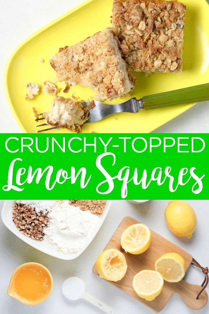 Mouth-watering crunchy lemon squares recipe!