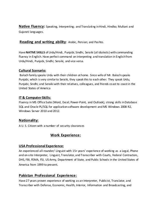 Resume Translation Resume Translation Services Cvs Translated
