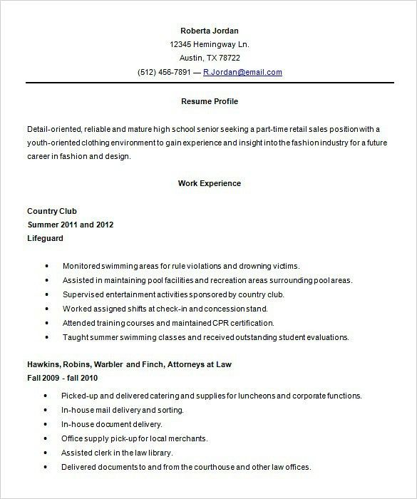 part time job resume objective part time job objective resume