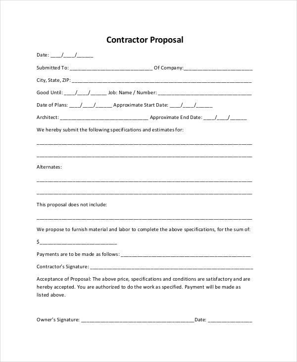 Bid Proposal Forms 12 Best Proposal Images On Pinterest Cleaning - bid proposal forms