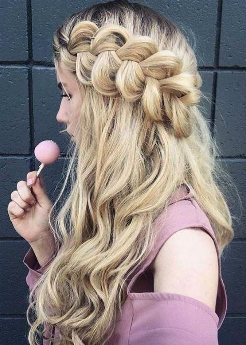 """Surprisingly Stunning Half Braided Long Prom Hairstyles 2019 to Get A Perfect Look This Year <a class=""""pintag"""" href=""""/explore/Braidedhairstyles/"""" title=""""#Braidedhairstyles explore Pinterest"""">#Braidedhairstyles</a><p><a href=""""http://www.homeinteriordesign.org/2018/02/short-guide-to-interior-decoration.html"""">Short guide to interior decoration</a></p>"""