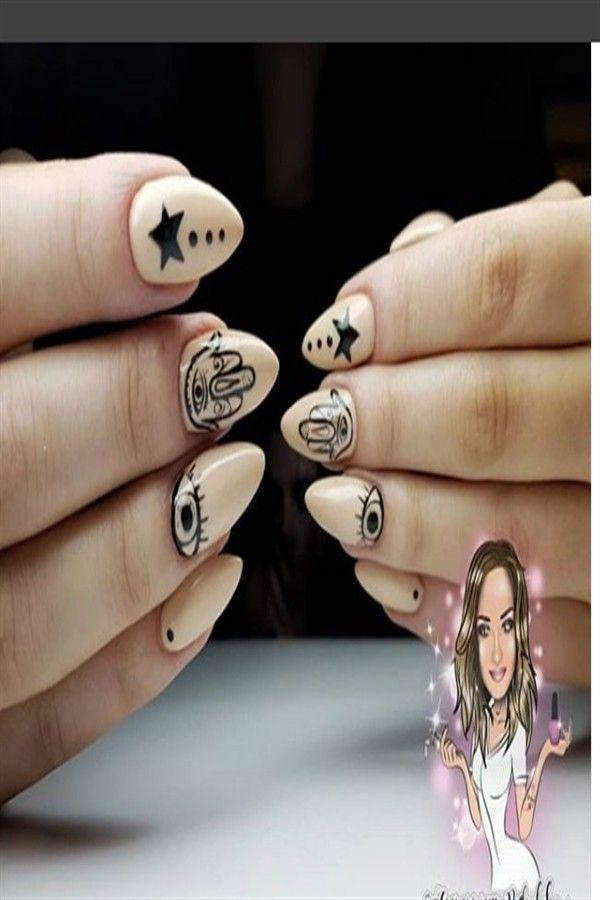 33+ Majestic Stars Nail Art Design Ideas – Fashonails #nail_art_designs #stars_nails #top_nails #trendy_nails
