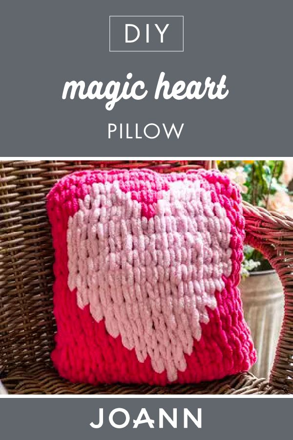 Valentine's Day is just around the corner, and nothing says love better than this DIY is Magic Heart Pillow from JOANN! Gift this handmade, beginner-friendly craft for someone special, or add it to your own home decor.