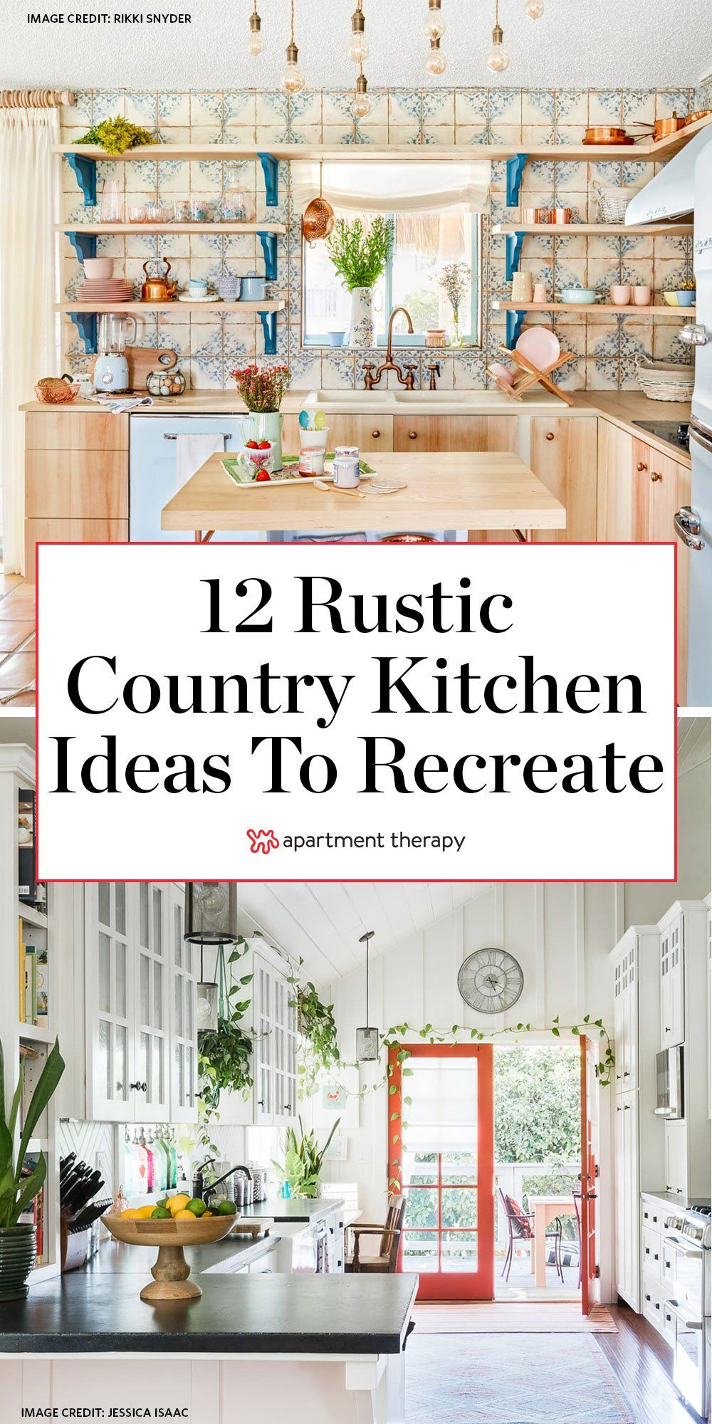 Looking to bring some rustic charm into your space? From painted cabinets to breakfast nooks and beyond, read on for the country kitchen ideas we can't get enough of right now.  #countrykitchen #rustickitchen #farmhouse #farmhousedecor #kitchendecor #kitchenideas #rusticdecor #countrydecor #kitchendecorideas #kitchentrends