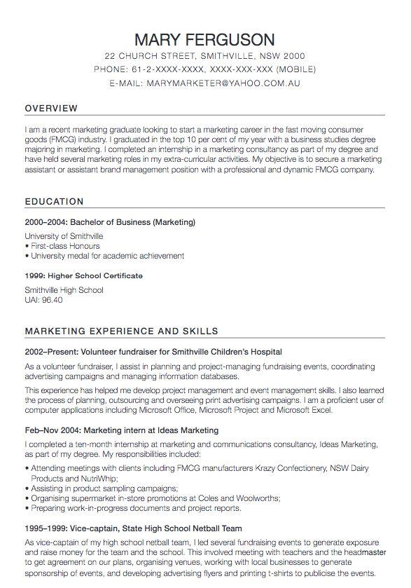 Sample Resume For Marketing Assistant Marketing Assistant Cv - marketing assistant resume