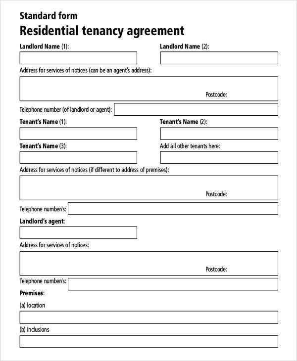 Tenancy Agreement Sample Free 14 Residential Rental Agreement - agreement templates
