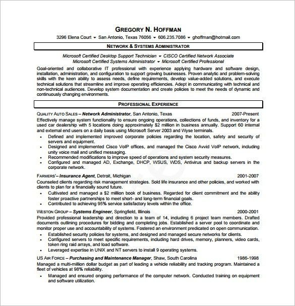 Database Administrator Resume Template] Database ...