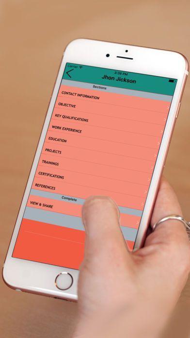 mobile resume maker resume builder pro 5 minutes cv maker mobile resume builder - Mobile Resume Maker