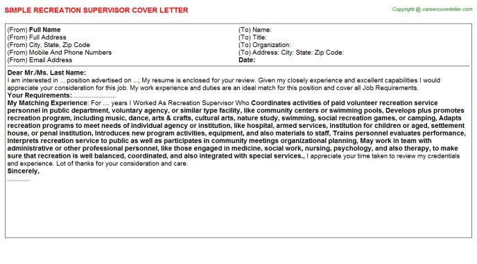 Spontaneous Cover Letter
