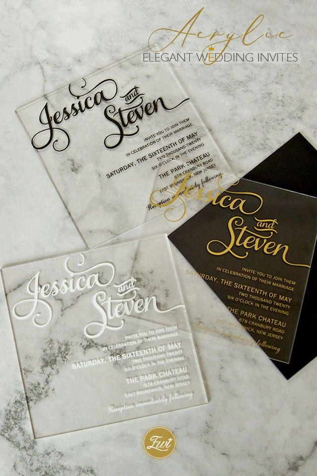 #EWI Custom Clear Acrylic Wedding Invitation Collection