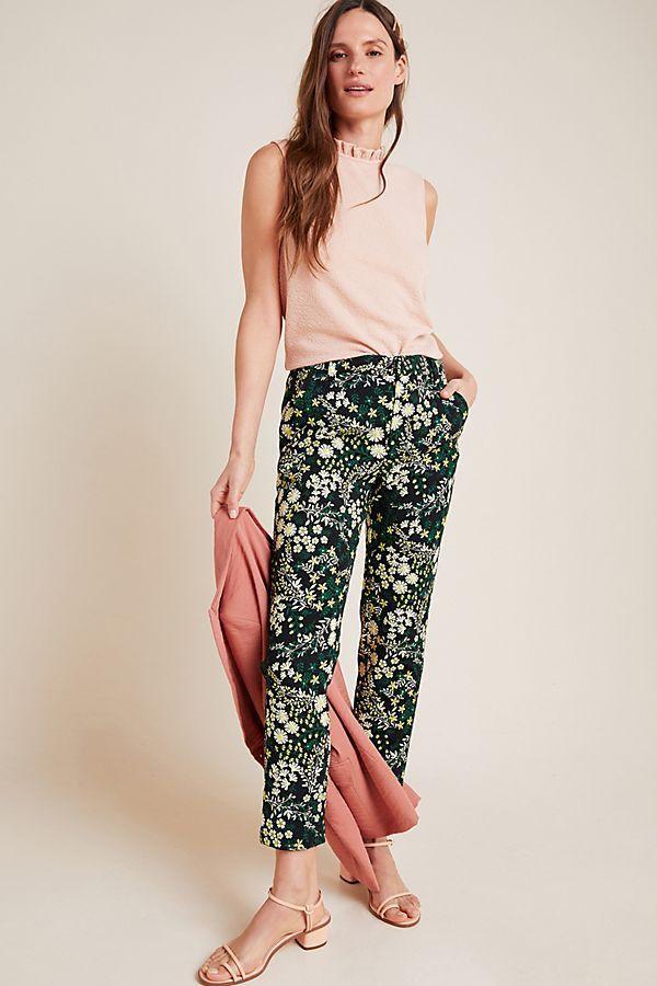 Posies Jacquard Trousers
