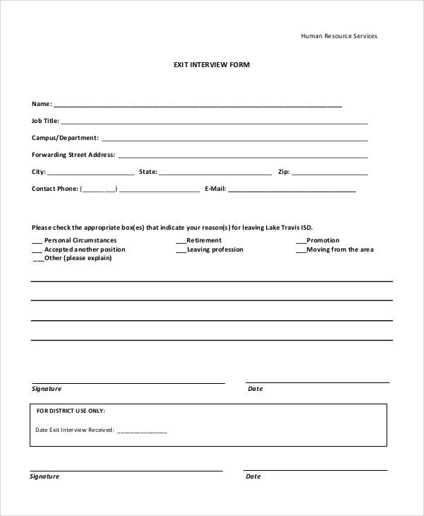 Exit Interview Template Exit Interview Form Template Sample Form - interview score sheet template