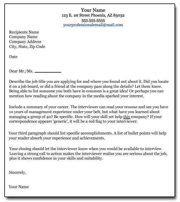 Cover Letter For A Job Sample Of Covering Letter For A Job - what does a cover letter contain