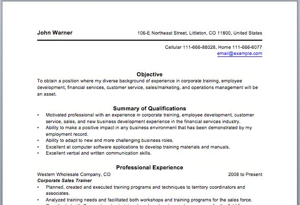 Corporate Trainer Resume Examples - Examples of Resumes