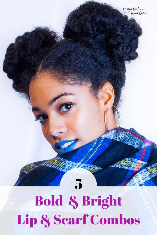 5 Bold & Bright Lipsticks on Dark Skin with Colourful Scarves. Matching Makeup looks, Accessories, and Hairstyles. MAC Cosmetics BlueBang on brown Complexion . #naturalhairstyles #Naturalhair #Melanin