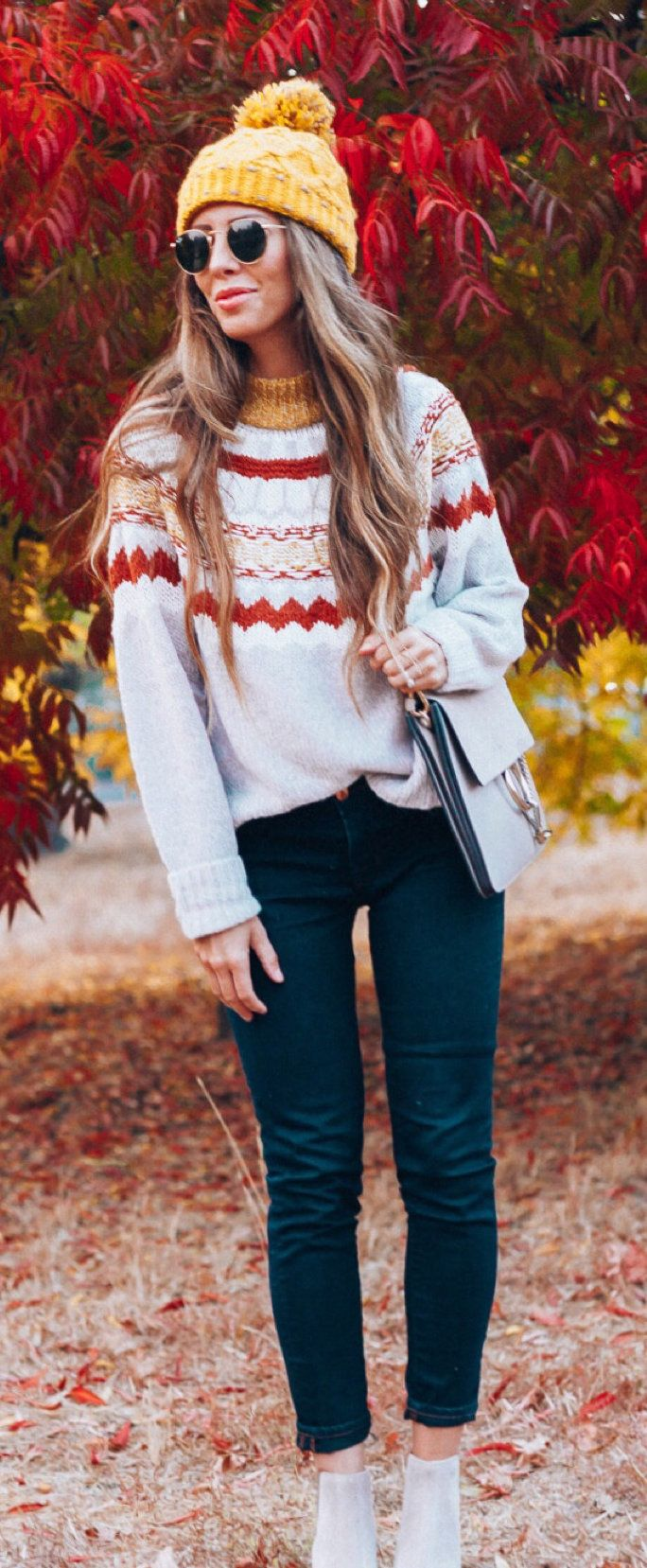 white and brown sweater