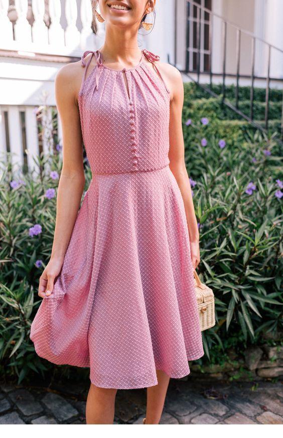 Sweet pink retro dress