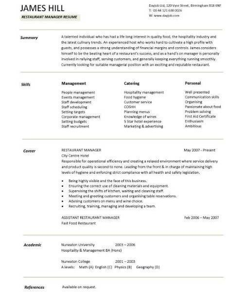 Sample Personal Resume 8 Best Resume Templates Images On Template