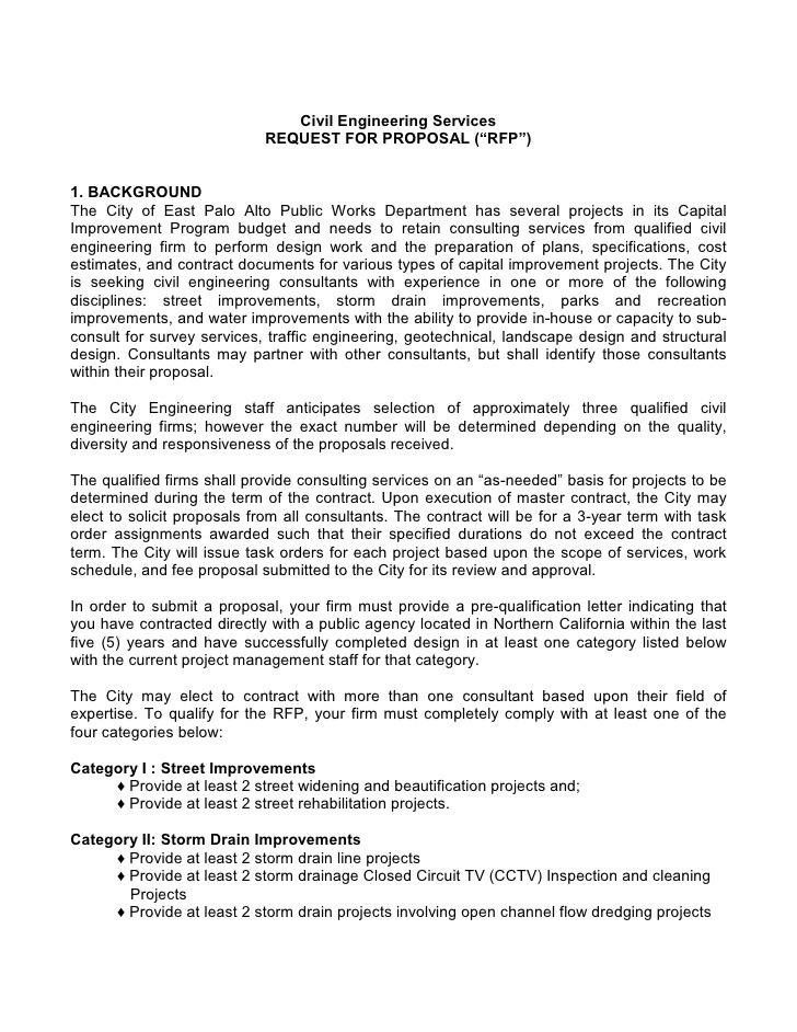 sample cover letter for project proposal