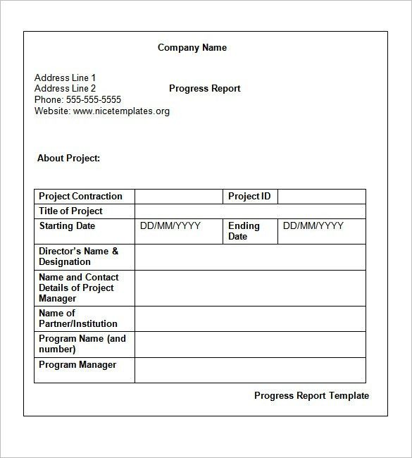 Weekly Project Report Weekly Status Report Template 12 Free Word - job progress report
