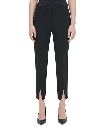 Calvin Klein Slit-Front Pants & Reviews - Pants & Leggings - Women - Macy's