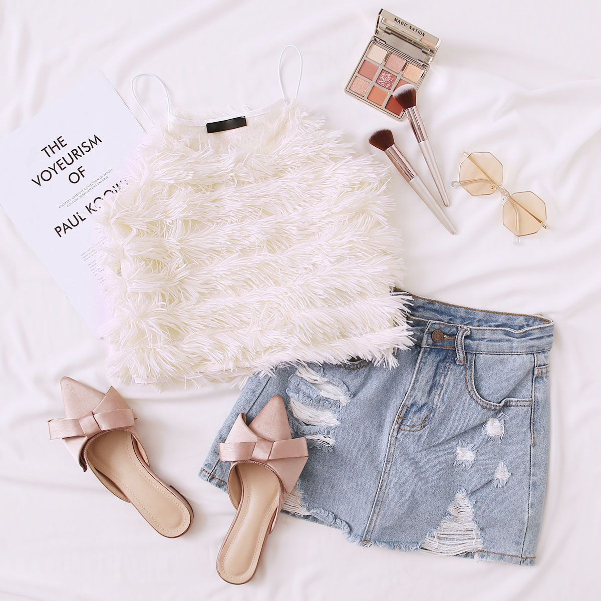 Layered Fringe Crop Cami Top