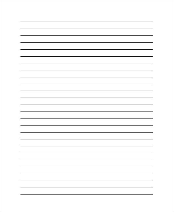 Lined Blank Paper Lined Paper Template Free Premium Templates, 13 - lined paper pdf