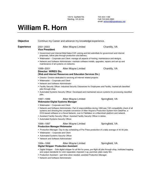 facility security officer sample resume cvresumeunicloudpl - Network Assistant Sample Resume