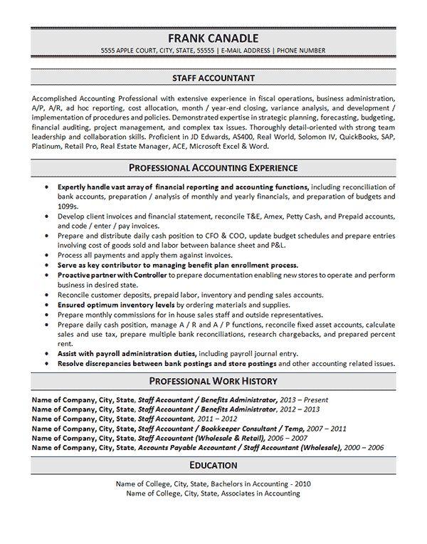 best accountant resume sample