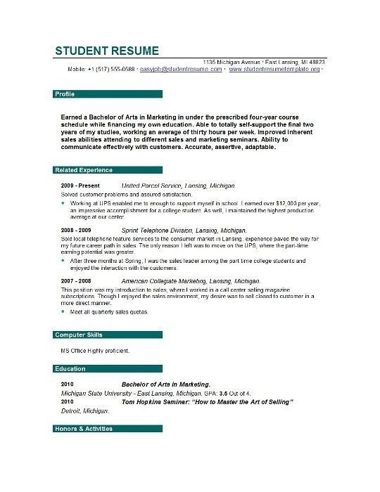 resume builder student resume builder myfuture resume builder free resume builder for high school - Free Student Resume Builder