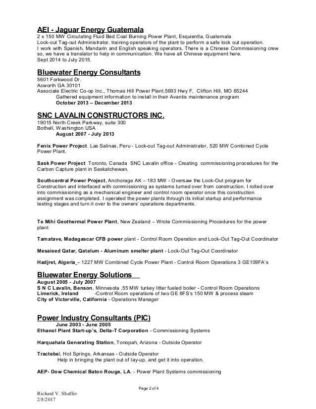 Control Room Operator Sample Resume Control Room Operator, Gas