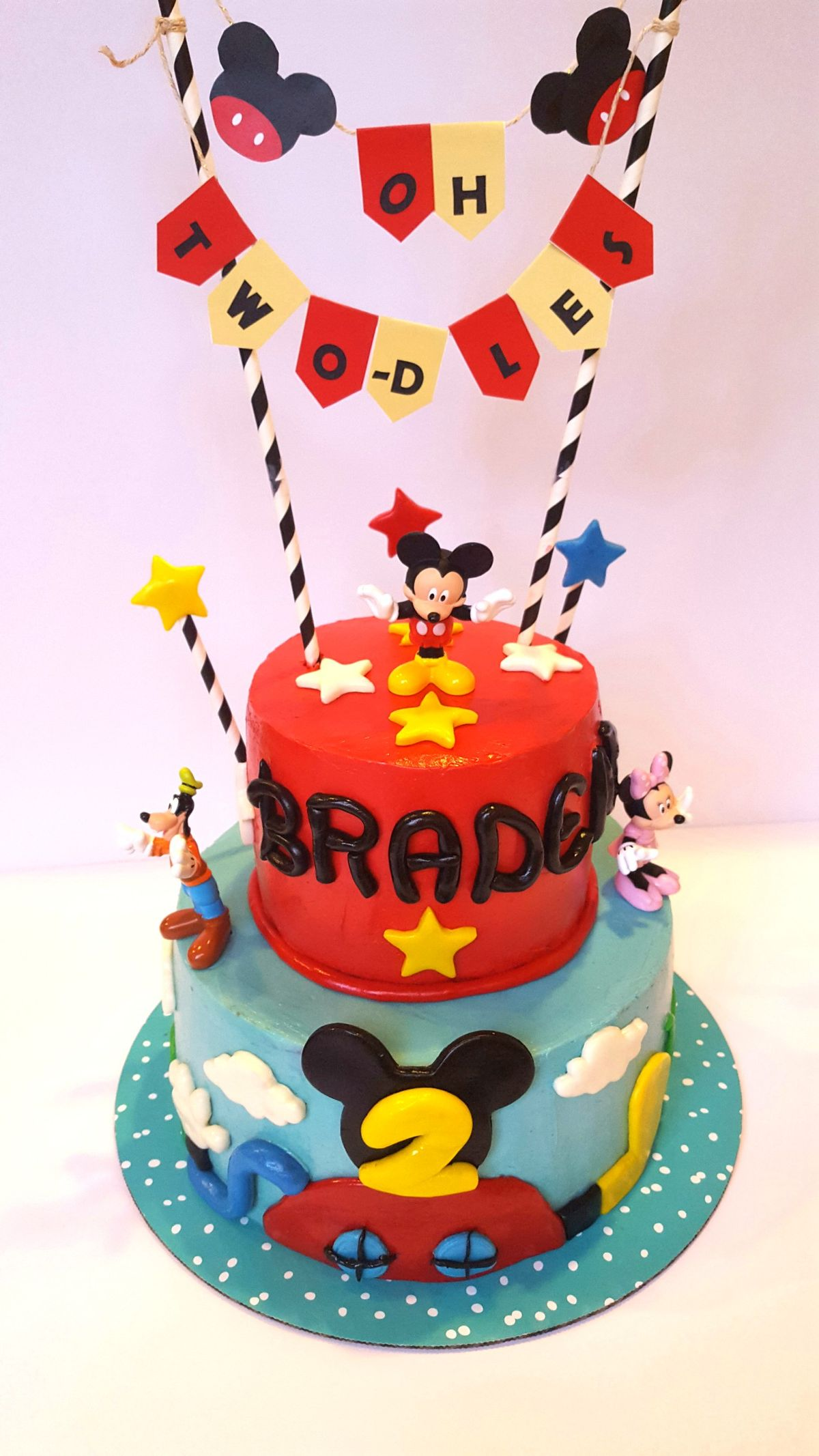 Oh Twodles! Mickey mouse cake for my 2 yr old boy