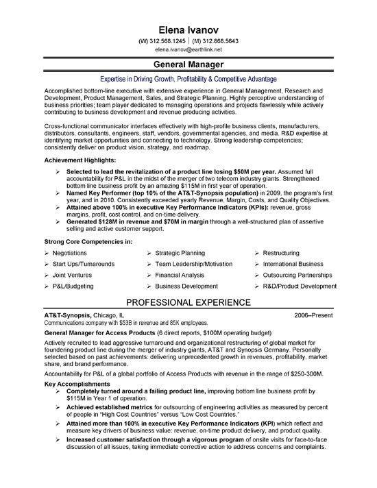 It Executive Resume It Executive Resume Example Sample Technology - sales executive resume