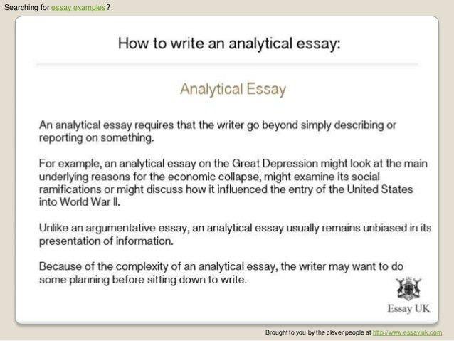 analytical analysis essay