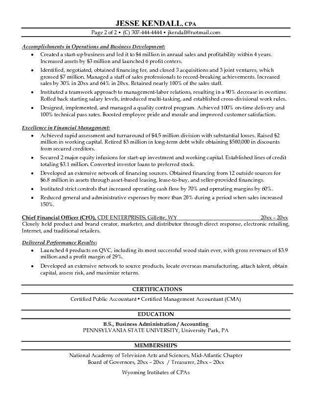 monster sample resume