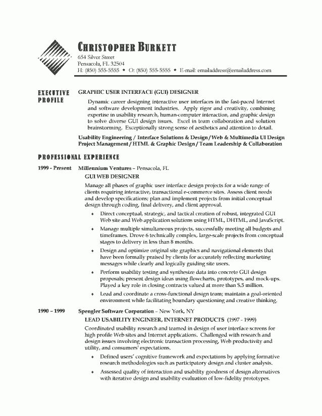 Ui Designer Resume Cover Letter