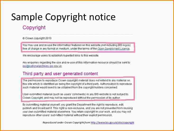 Copyright Message Example Copyright Notice  Free Samples Examples