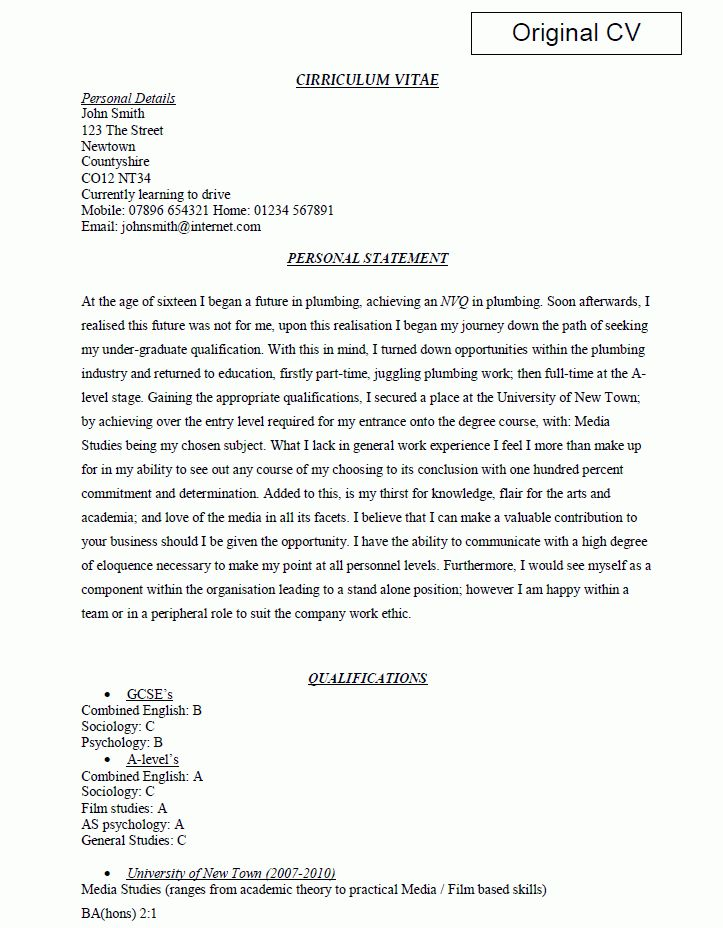 Personal Profile Resume Examples Personal Profile Statement On A
