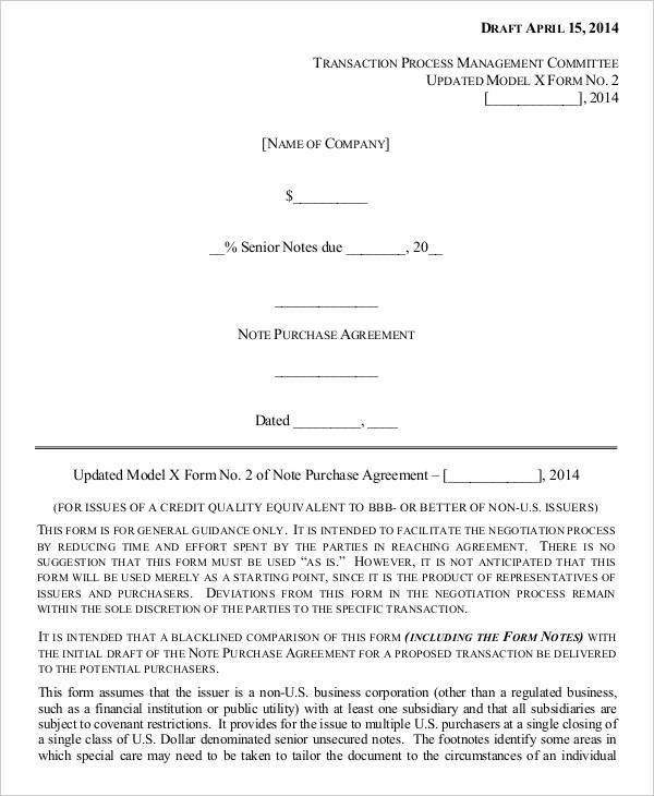Investor Agreement Template Investors Agreement Investor Contract - convertible note agreement template