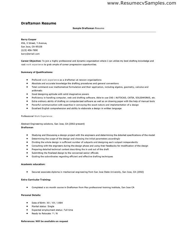 drafting resume professional drafter templates to - Drafting Resume Examples