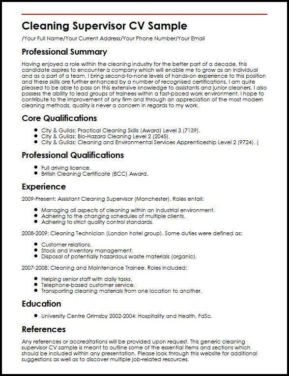 Sample Resume For Cleaning Job Gallery