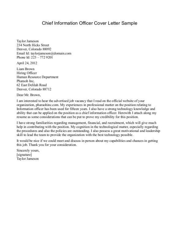 Police Chief Resume Cover Letter Excellent