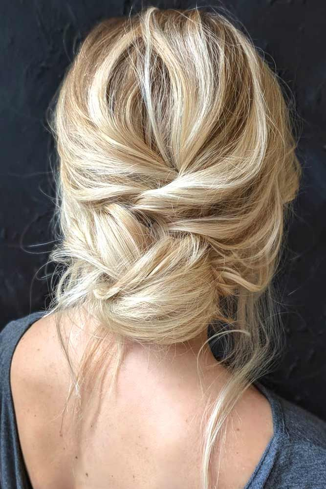 Simple Messy Updo #updohairstyles #messyhairstyles  ★ Spring break is approaching, and easy hairstyles that look pretty will come in handy whether you have an active or a passive vacation. See our collection. #glaminati #lifestyle #easyhairstyles