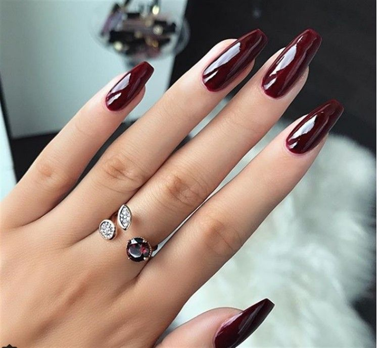 30+ Majestic Burgundy Nail Art Designs The best gallery – Fashonails