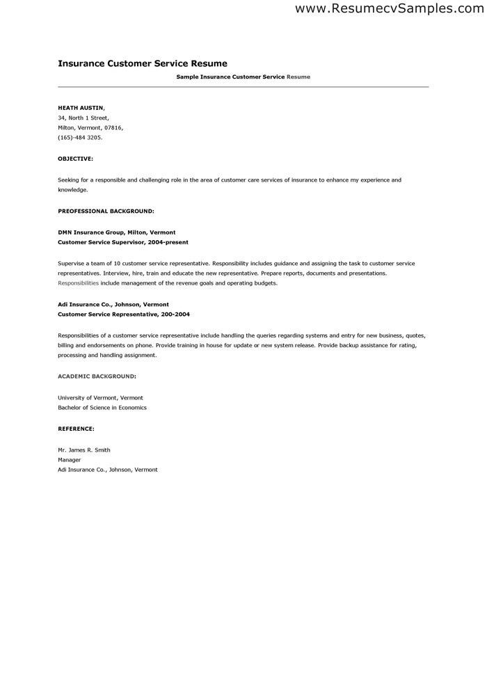 customer service representative objective