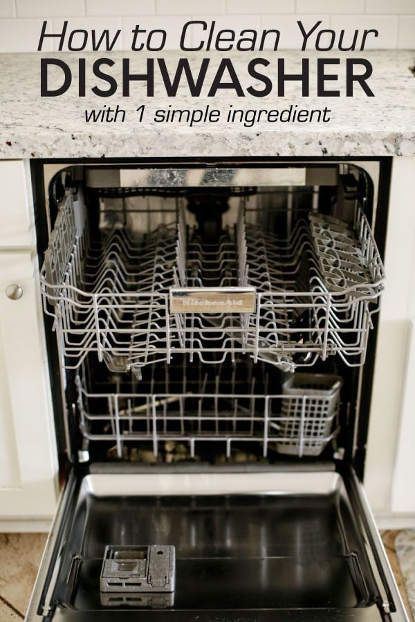 How to clean your dishwasher with one simple ingredient!  www.thirtyhandmadedays.com  #cleaningtips #cleandishwasher