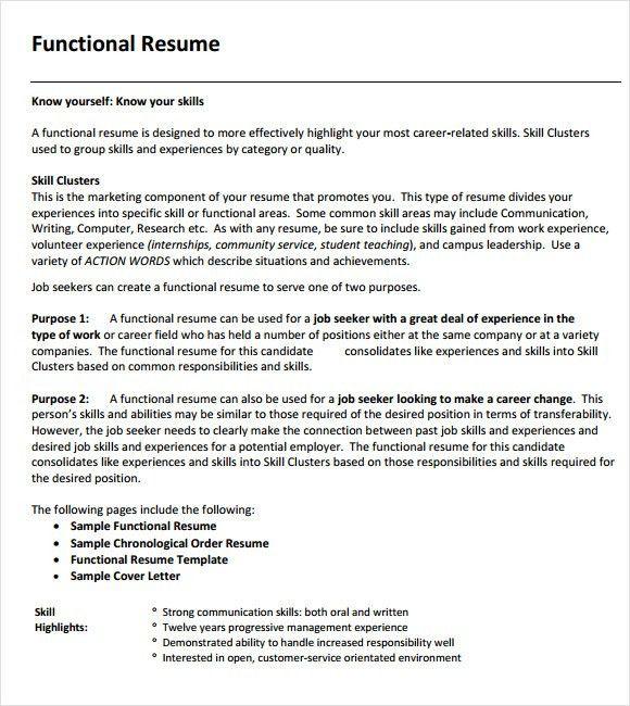 Create A Functional Resume Functional Resume Template Berathencom - combination resume samples