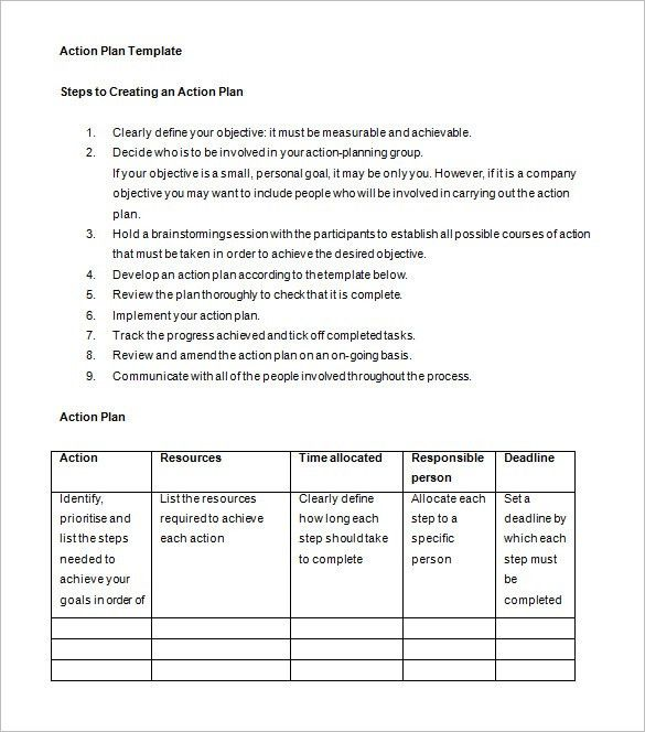 Example Of An Action Plan Template 20 30 60 90 Day Action Plan - 30 60 90 day action plan template