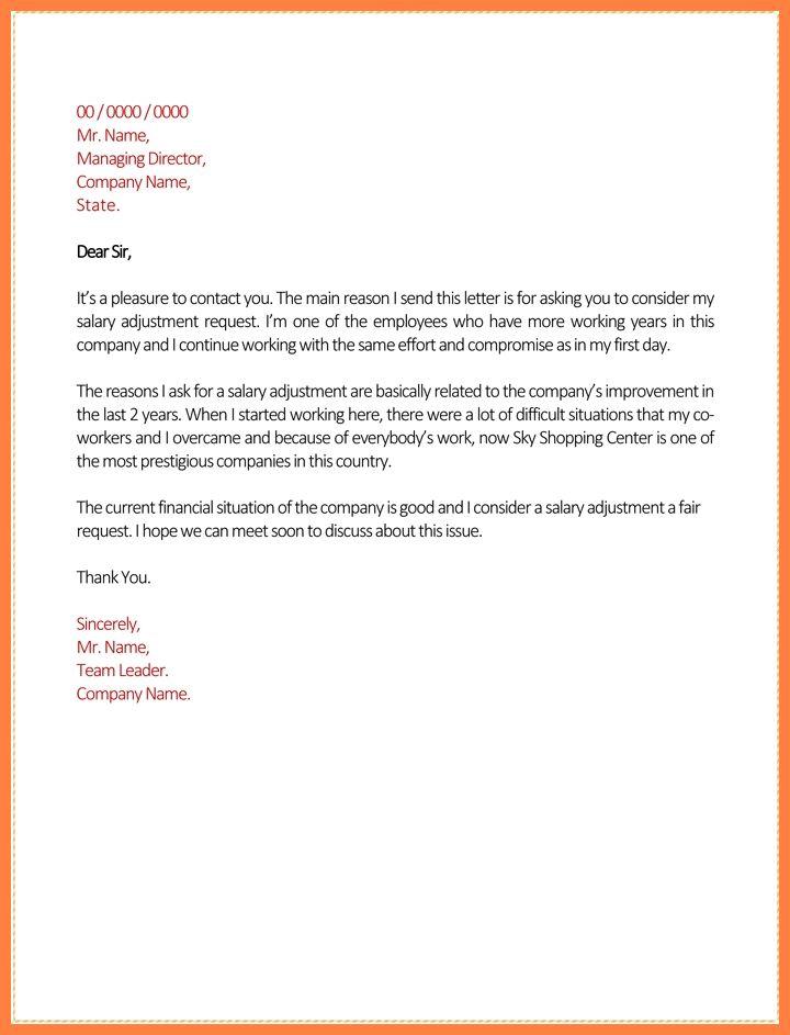 Request Salary Increase Letter Under Fontanacountryinn Com
