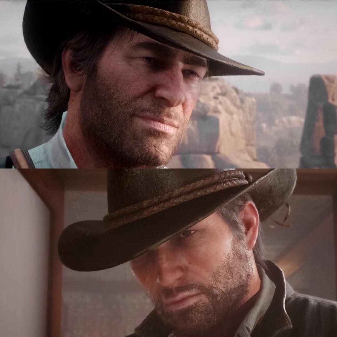 Same Hat Different People Arthur Morgan And John Marston Red